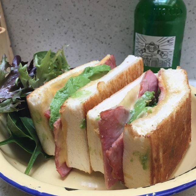Ham & Cheese Toastie + 1/2 Avocado