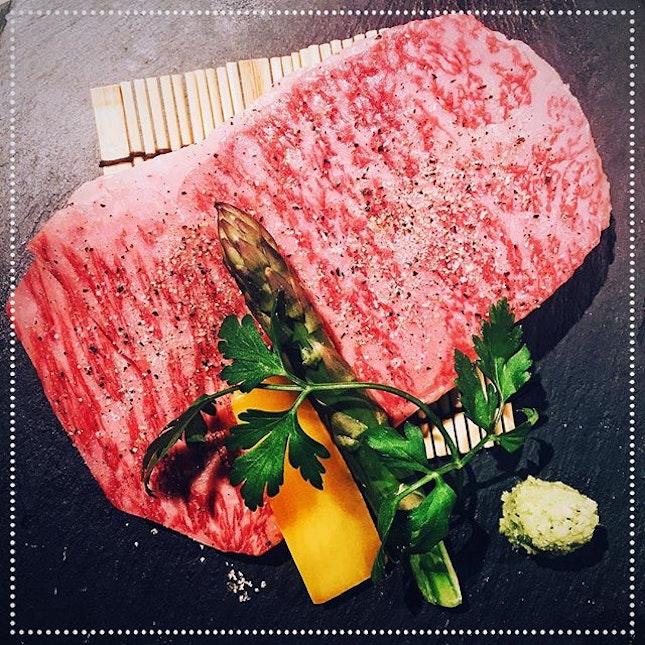 [Yakiniku Heijoen] Japanese A5 Matsuzaka Kuroge-Wagyu Steak-Cut Sirloin (150g), S$89.90.