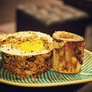 [ Mushroom and Bone Marrow fried rice $16 ] The rice is really yummy.