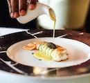 Langoustine from @lesamisrestaurant 🙋🏻 Perfection!