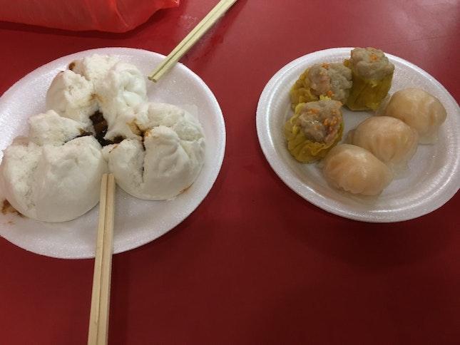 Dim Sum Dishes - Char Siew Pau, Har Gao, Siew Mai