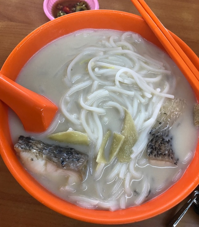 XO Sliced Fish Bee Hoon Soup ($7)