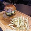 Flaming Burger ($29)