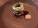 Roasted Quail With Apple Purée