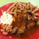 Western food (chicken chop) from # 01-11 448 Clementi 448 Market & Food Centre.