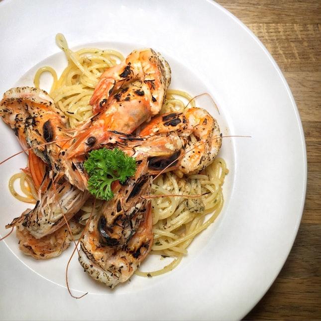 Aglio Olio ($5.70 + $6 for extra prawns | No GST & Service Charge 👯👯)