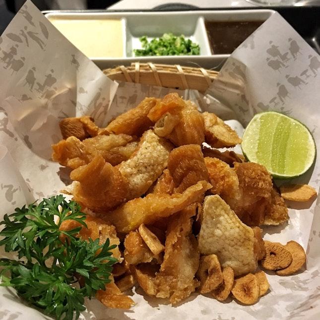 Fried Salmon Toro with Dip ($14)