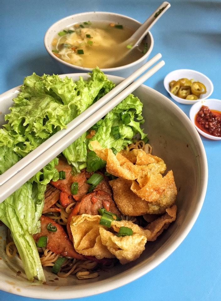 Char Siew Wanton Noodle ($4.50)