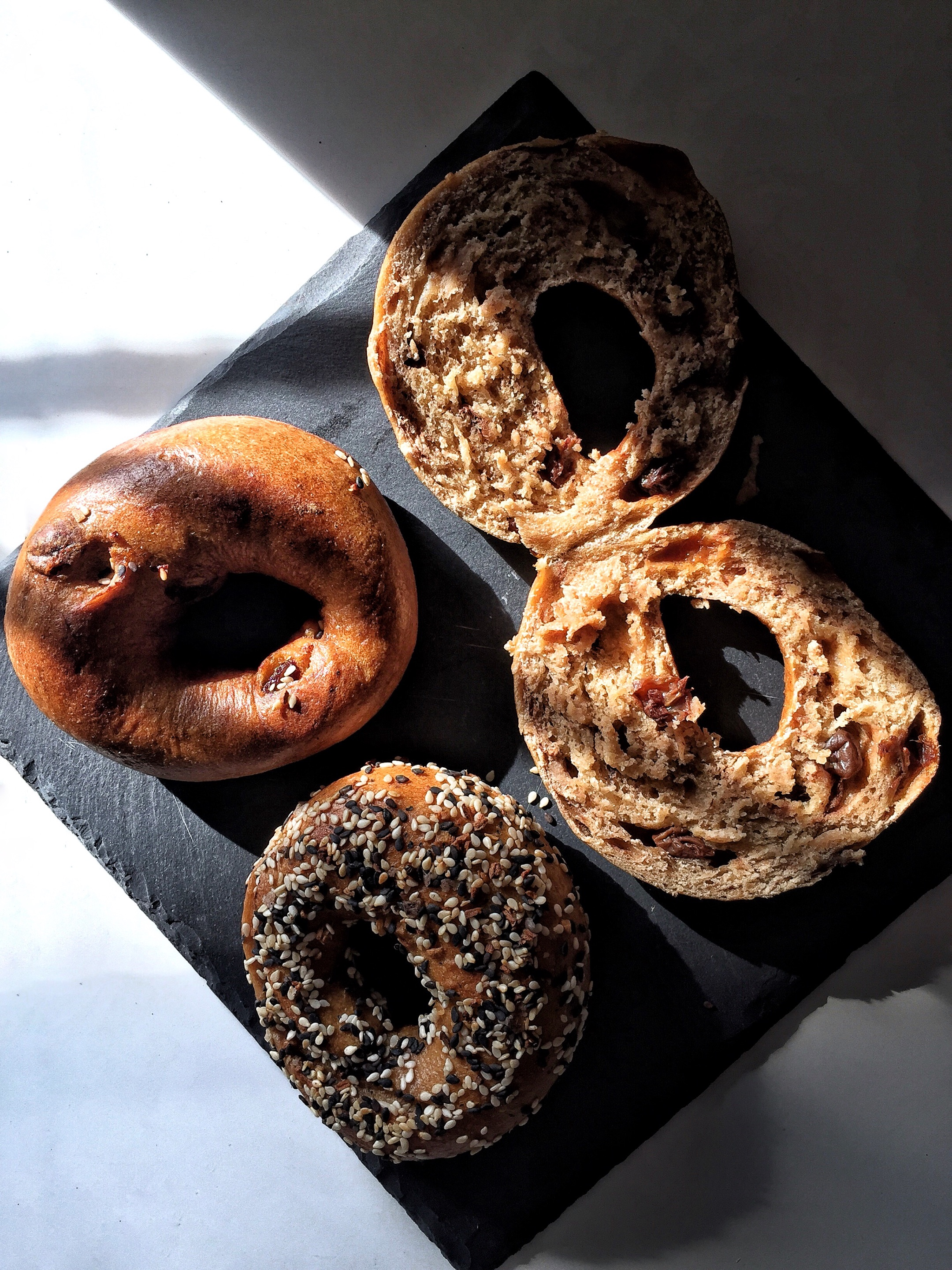 Everything and Cinnie Raisin Bagels (from $3)