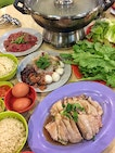 Chicken Rice Steamboat ($52.50, inclusive of $10 Hainanese steamed chicken)