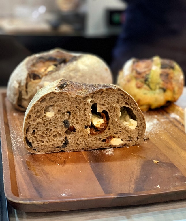 Sundried Tomato with Feta Cheese n Olive Rye ($7 for half loaf; $12 for full)