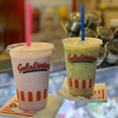 Strawberry Gelato Milkshake ($8.90) & Passion Fruit Gelato Fruit Frappe ($7.90)