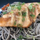 Mentaiko Salmon with Cold Soba