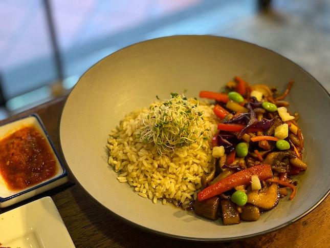 Mixed Mushroom Rice Bowl