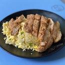 Chicken Chop Egg Fried Rice