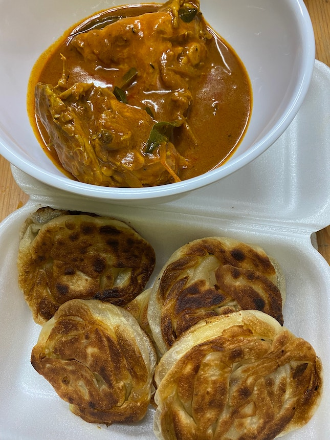 Coin Prata with Chicken