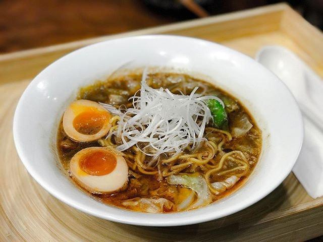 Jimoto Ya @jimotoyasg - Ebi Shoyu Ramen エビ醤油ラーメン (💵S$17) Signature Sweet Prawn and Pork Bone Ramen with Soya Sauce Seasoning and Marinated Ajitama Egg.