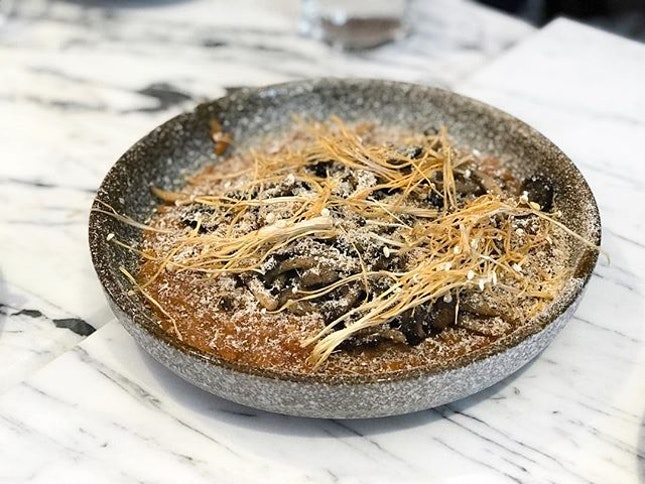 Brine @brine.singapore - Big - Dashi Risotto, Mushroom Textures (💵S$17) 🥄 • ACAMASEATS & GTK💮: Christmas is just 14 days away and it looks a lot like Christmas nowadays especially with this particular dish.