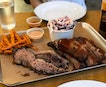 Red Eye Smokehouse @redeyesmokehouse - Pork Ribs, Beef Brisket, Sweet Potato Fries, Coleslaw (Prices varies) .