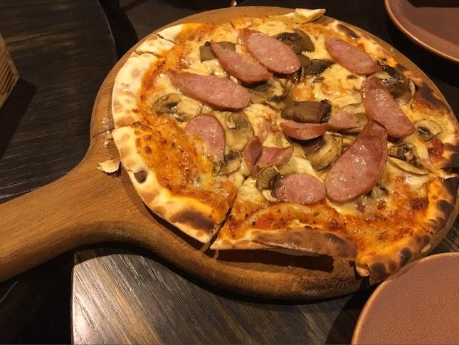 Pork Sausage pizza