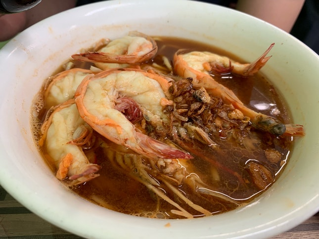 Prawn Mee (Soup) ($12 for Jumbo)