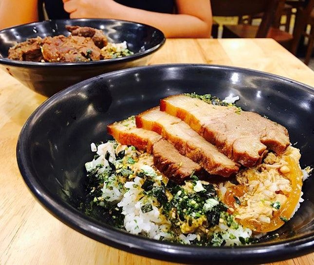 Braised Pork Belly Egg Rice [$8.90] 🐷🍳🍚 We're so hungry after work that we cannot wait for Tampines anymore.