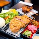 Black Angus Prime Sirloin Beef Katsu Set + Tebasaki
