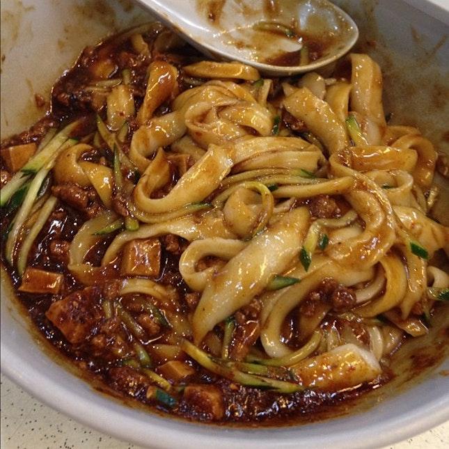 炸酱面太好吃了minced meat sauce noodle