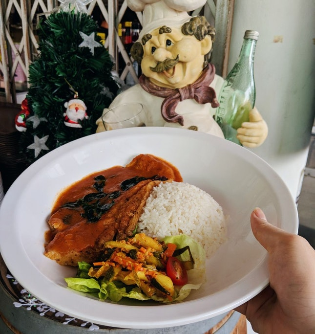 Chef Curry Rice Special - Pan Seared Dory Fish ($5)
