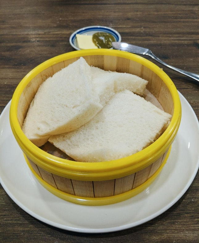 B2 Steamed Hainan bread with Butter and Kaya ($2.90++)