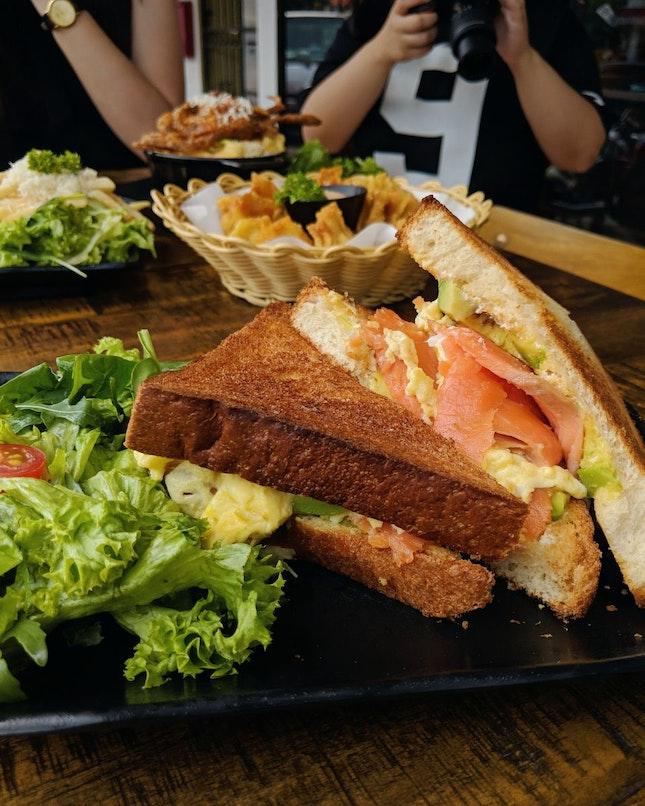 Smoked Salmon Sandwich ($14)