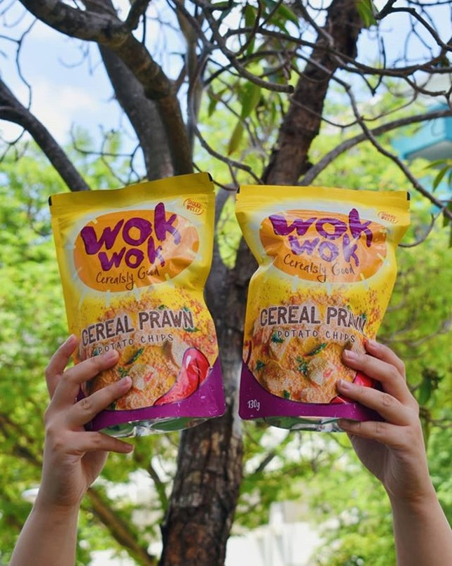 Wok wok 🦐🍠 Savoury crispy chips with real cereal bits and slightly spiciness.