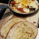 Baked Eggs With Chicken Sausage