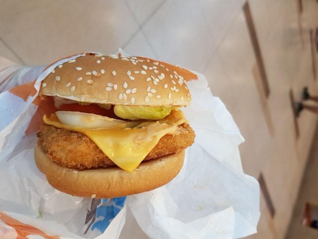 Salmon Mentaiko Burger