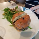 Beef Portobello Burger $18