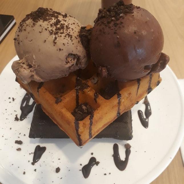 Waffles & Ice Cream!
