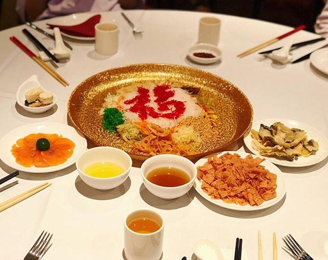 Reunion dinner with family ❤️🤗🍽🎋 #福 #veryengandfamily #engfamily #peachgardensg #lohei