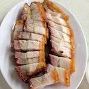 Roasted Pork Belly with crunchy crackling.