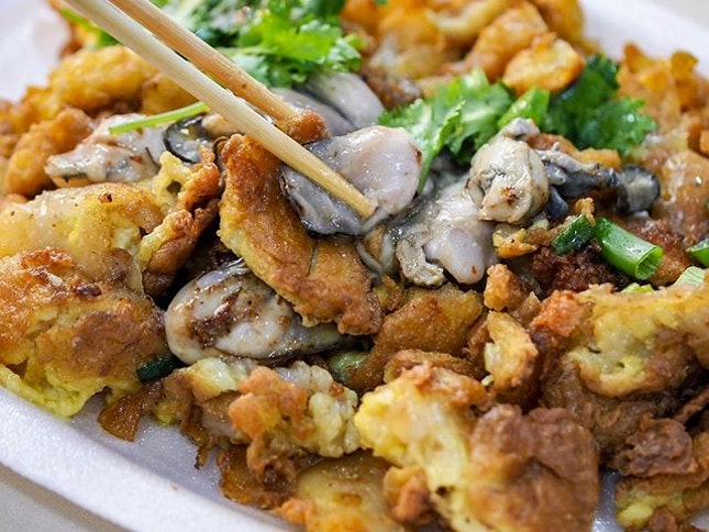 Hup Kee fried oysters omelette.