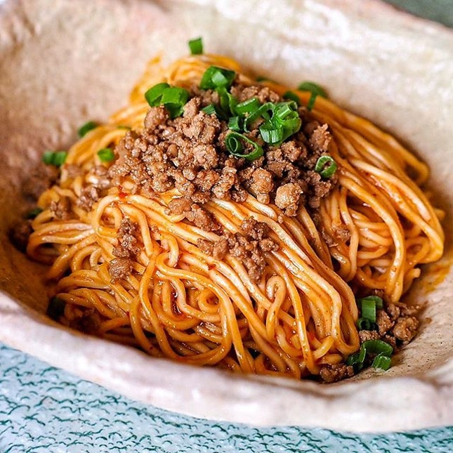 The signature dan dan noodles (dry) is another hit among all of us last night.
