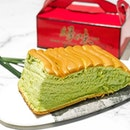 Grand Castella Pandan [S$10.90]  The wait between 30mins VS 1h30mins made me choose Pandan over Chocolate flavour.