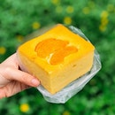 Peach Cake [S$2.30] ・ Solid square of cake from my favourite bakery in One North, D'Pastriez.