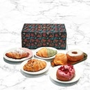 Edible Giftbox [S$18.00/6pcs] ・ ・Mochi Croissant with Matcha White Chocolate Glaze・Mochi Croissant with Brown Sugar Caramel & Demerara Sugar・Mochi Crossiant with Butterscotch Glaze & Caramelized Pecans ・Mochi Donut with Raspberry White Chocolate Glaze・Mochi Donut with Madagascan Vanilla Icing・Sticky Bun with Butter & Sugar ・ Pretty pastries and graphic patterns on the box makes it a lovely gift indeed.