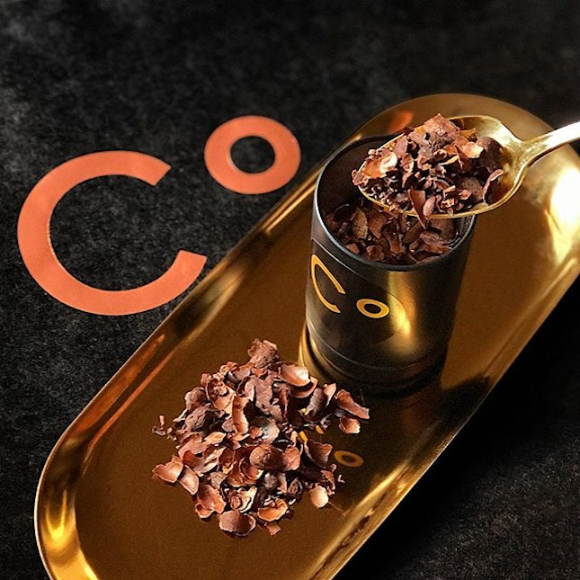 Featuring one of @ChocolateOrigin's new and exclusive item at @JewelChangiAirport – Cacao Tea.