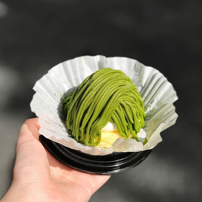 Matcha Mont Blanc [S$3.90] ・ Had to get this after spotting it at @DonkiSG.