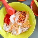 Prawn Mee (Dry) [S$6.00] ・ Got introduced to Jalan Sultan Prawn Mee and it's yums!