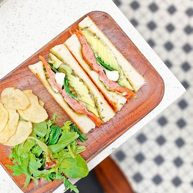 Avocado Toastie + Salmon [S$13.00+S$6.00] ・ Behold the famous Avocado Toast from @FreeTheRobot.SG!