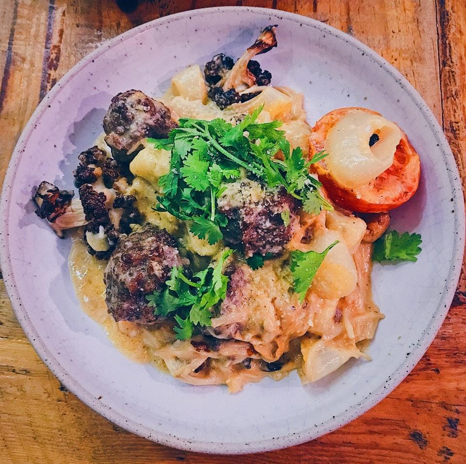 Vegetarian gnocchi With Meatballs $15+