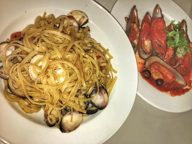 Vongole and Sautéed Mussels