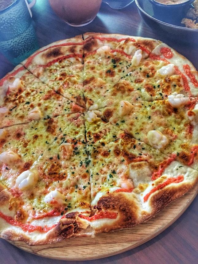 Pizza Prawn Mentaiko